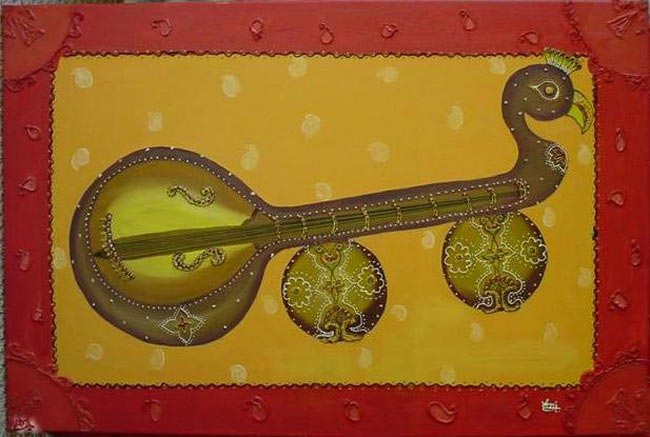 Indian music instruments in oil for ravi 39 s for Cuisine instrument